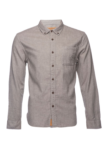 Truman Solid Brushed Cotton - Brown