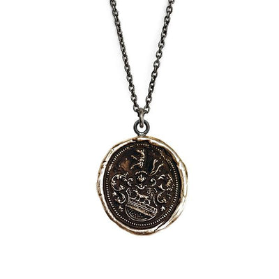 Bronze Talisman Necklace - Heart of the Wolf