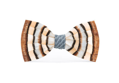Blue Chuka Bow Tie - Partridge Feathers