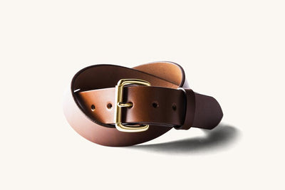 Cognac Standard Belt w/ Brass Buckle