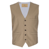 Albert Stretch Typewriter Cloth Vest - Tan