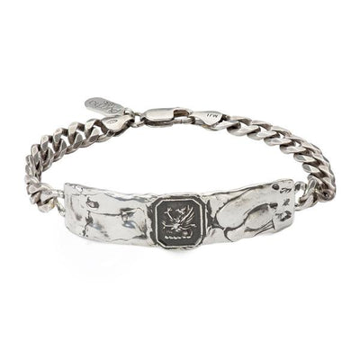 Sterling Silver Wide ID Talisman Bracelet - Success