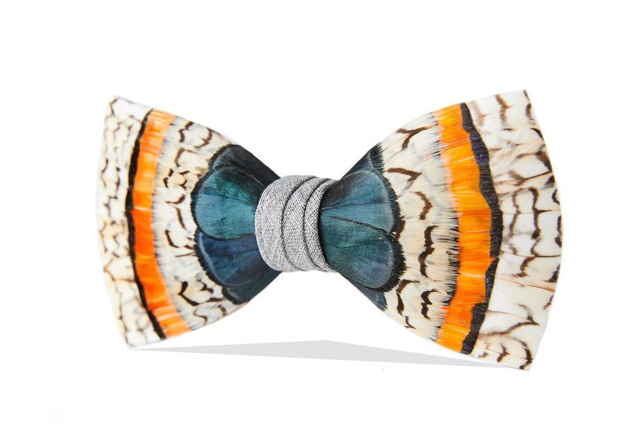 Bailey Bow Tie - Pheasant & Quail Feathers