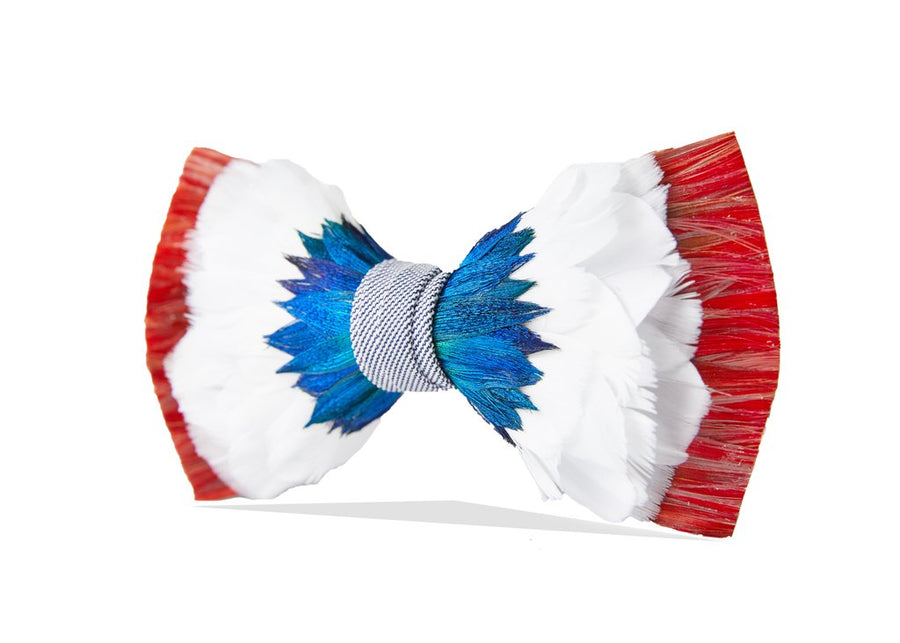 Bolders Bow Tie - Pheasant, Goose & Peacock Feathers
