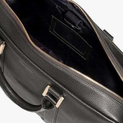 Leather Laptop Briefcase - Olive Alpine Collection