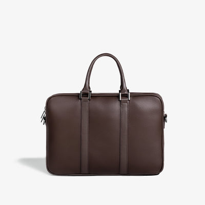 Leather Laptop Briefcase - Espresso