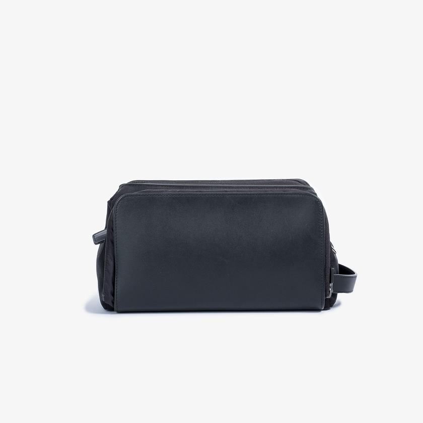 Travel Dopp Kit - Black Leather