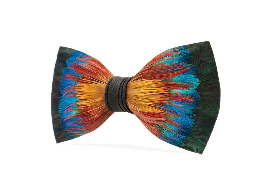 Spectrum Bow Tie - Pheasant & Peacock Feathers