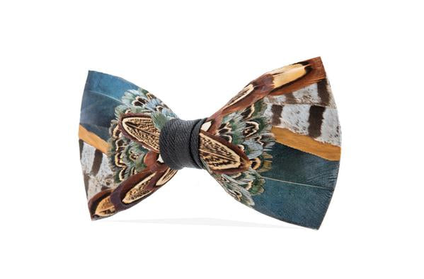 Pollock Bow Tie - Pheasant Feathers