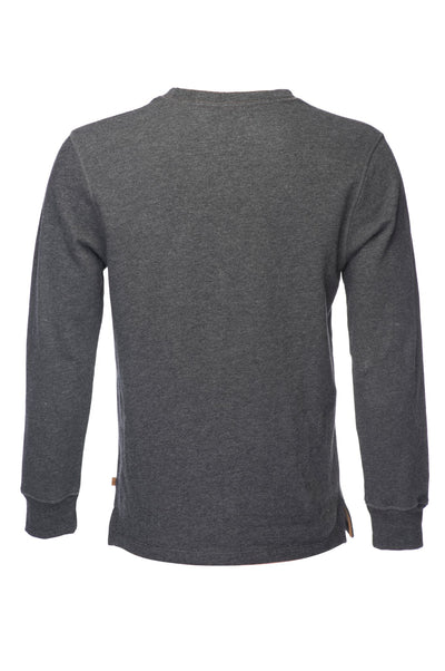 Benjamin Burnout Crew Neck Pull Over - Dark Gray