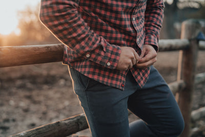 Stephen Button Down - Red Plaid