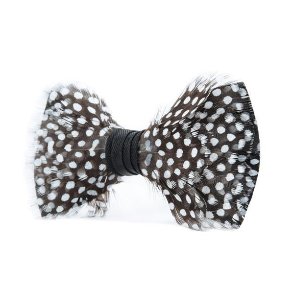 Gatsby Bow Tie - Guinea Feathers