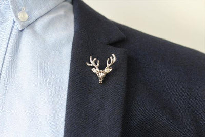 Silver Lapel Pin - Deer Head