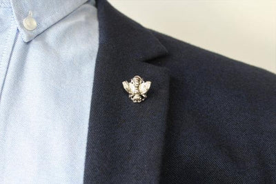Silver Lapel Pin - Bee