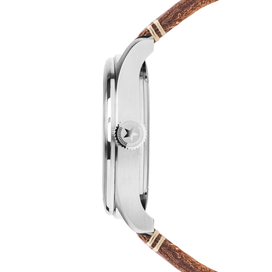 Aviation 3H - SS White Dial - Saddle Leather Strap