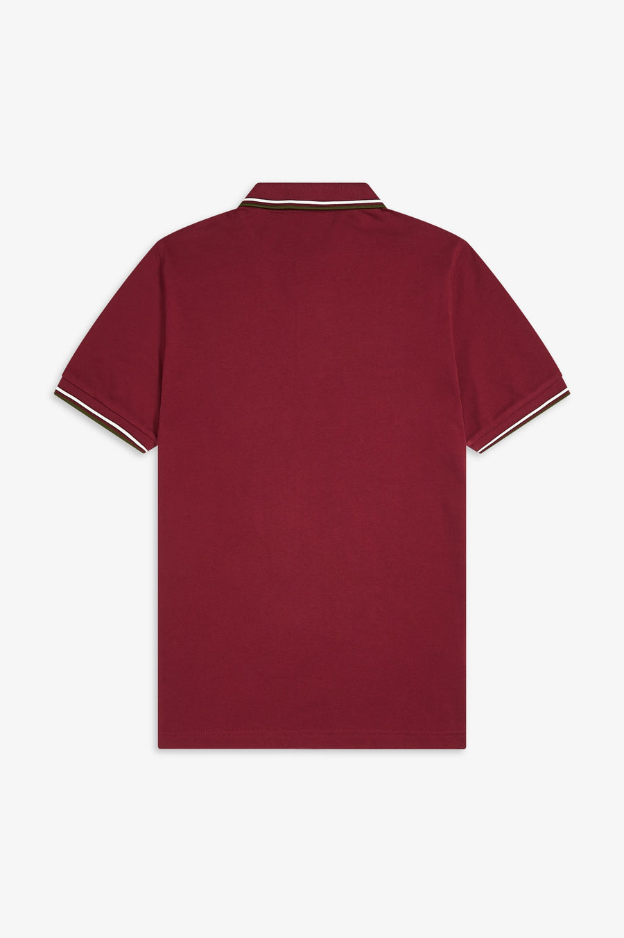 Twin Tipped Fred Perry Shirt / Maroon-Snow White-Cypress