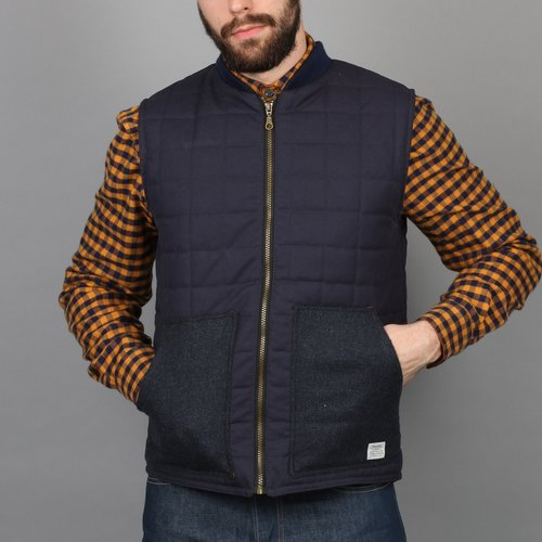 Quilted Gilet Vest - Mustard