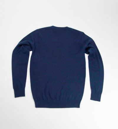 Neptune Cotton V-Neck Sweater - Ocean
