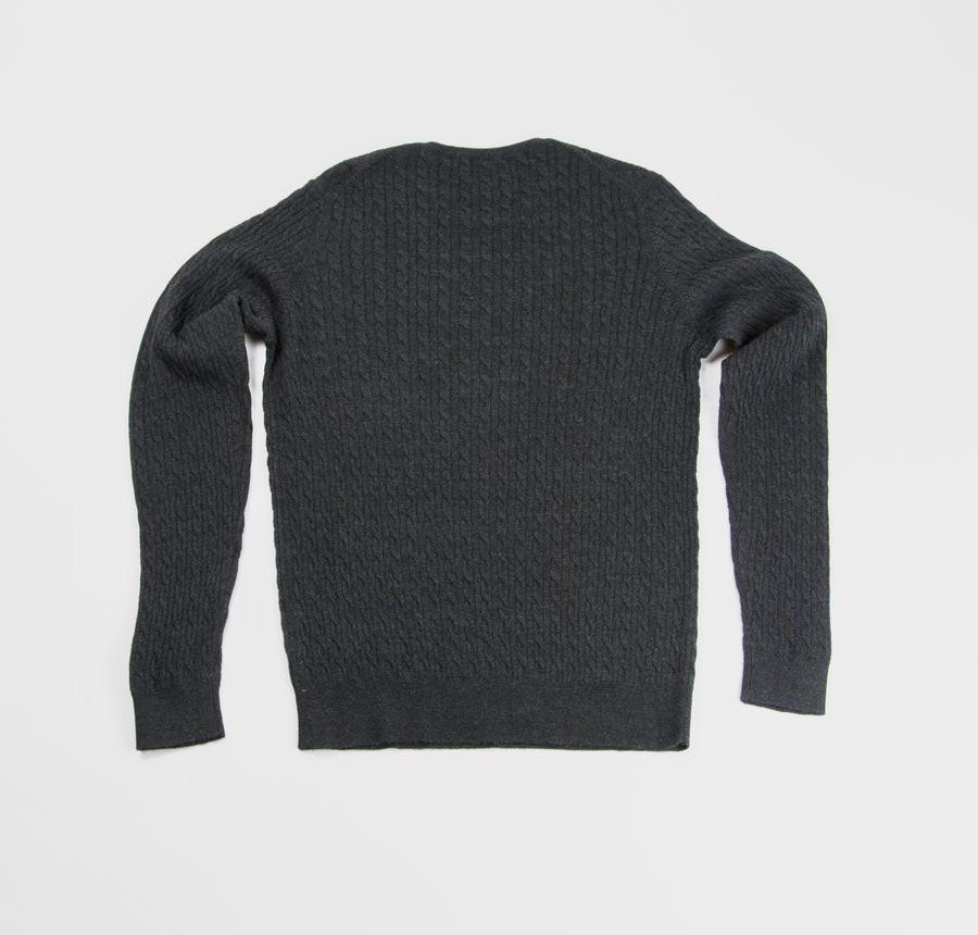 Neuxes Wool Blend Cable Knit - Anthracite