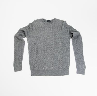 Neuxes Wool Blend Cable knit - Grey