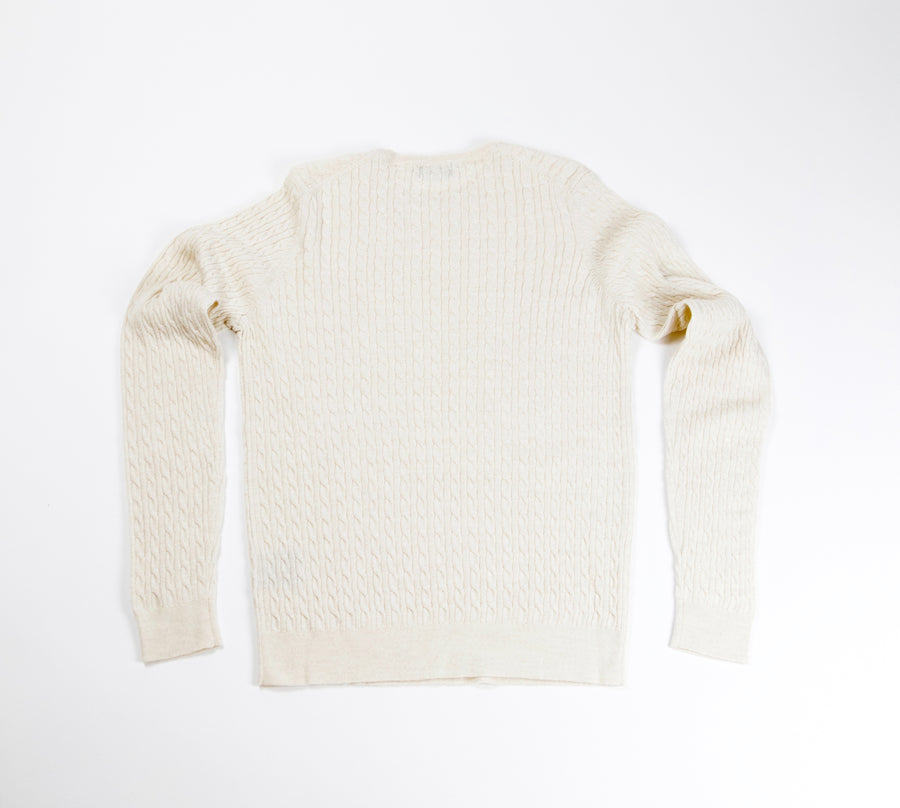 Neuxes Wool Blend Cable Knit - Beige