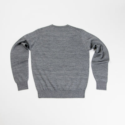 Neptune Wool Blend V-Neck Sweater - Granite