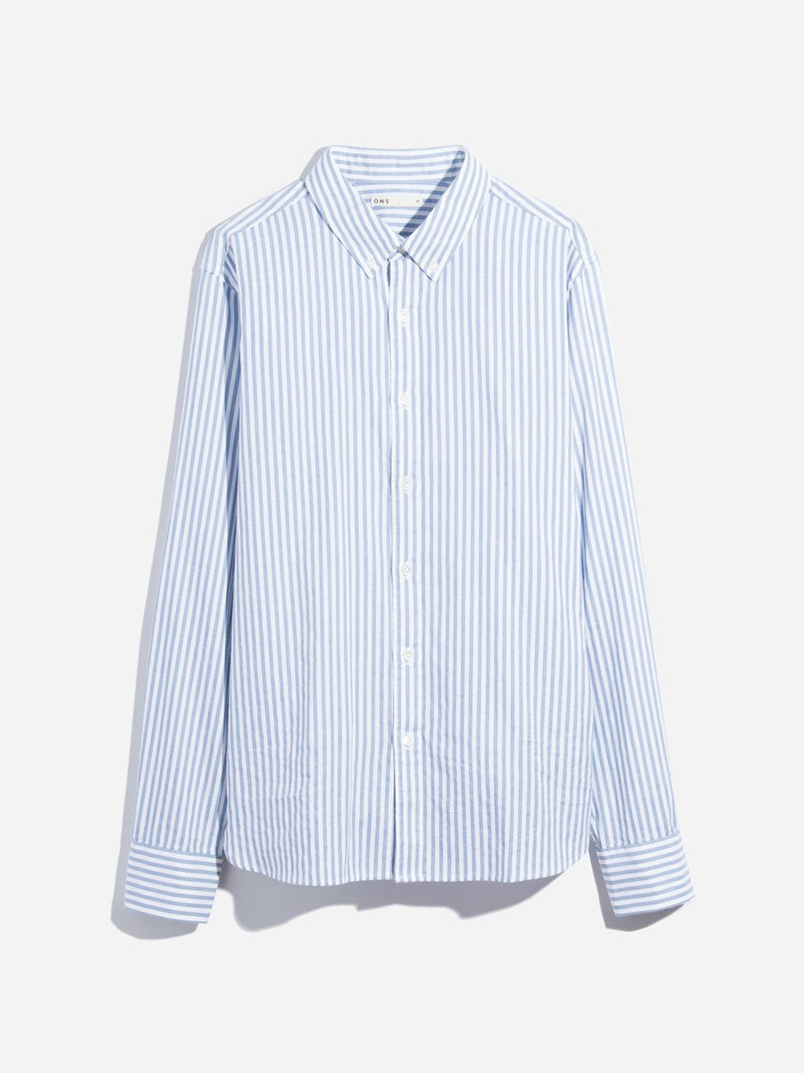 Adrian Striped Oxford Shirt -Blue Stripe
