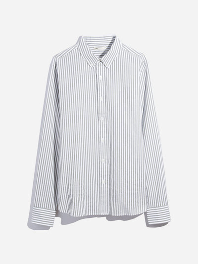 Adrian Striped Oxford Shirt - Grey Stripe
