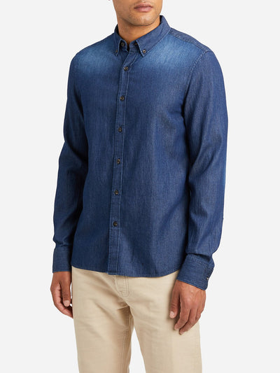 Adrian Denim Shirt - Dark Blue