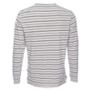 Ryan Raw Seam Stripe Crew - White & Navy