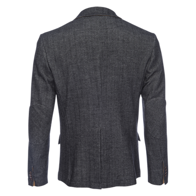 Kurt Notched Lapel  Stretch Blazer - Herringbone