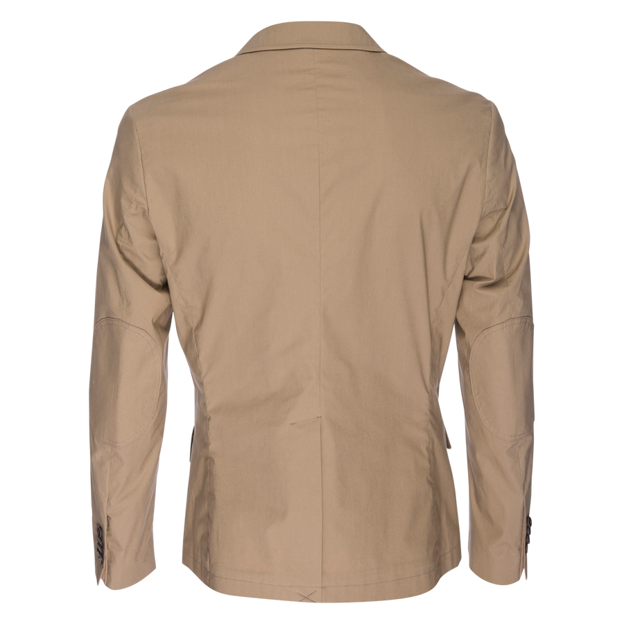 Kurt Stretch Typewriter Cloth Blazer - Tan