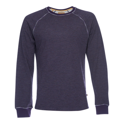 Jackie Tonal Rainbow Stitched Raglan - Purple