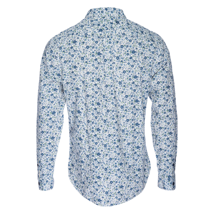 Truman Button Collar in Floral Paisley
