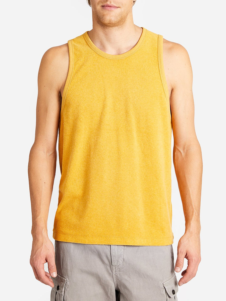 Reverse Terry Tank - Yellow