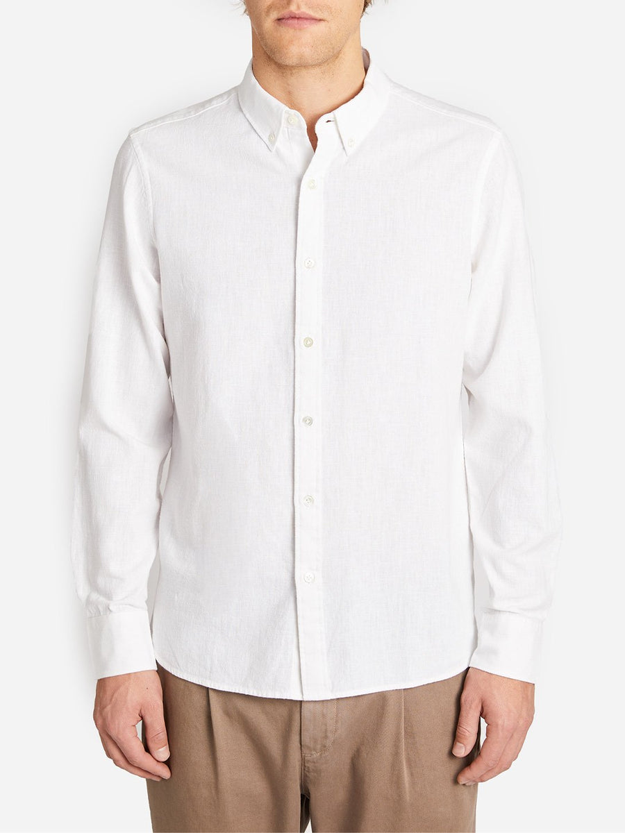 Chambray Fulton Button-Up - White