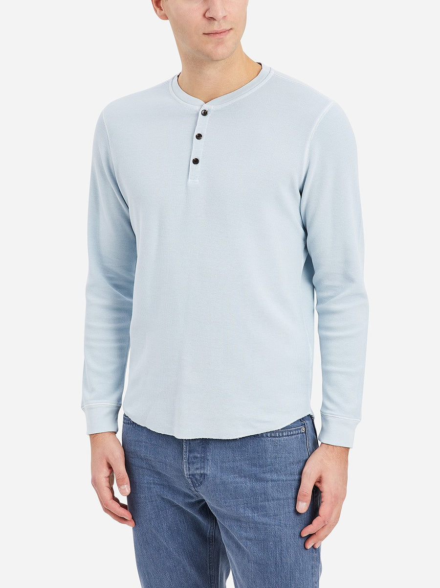 Court Waffle Henley - Blue Dreams