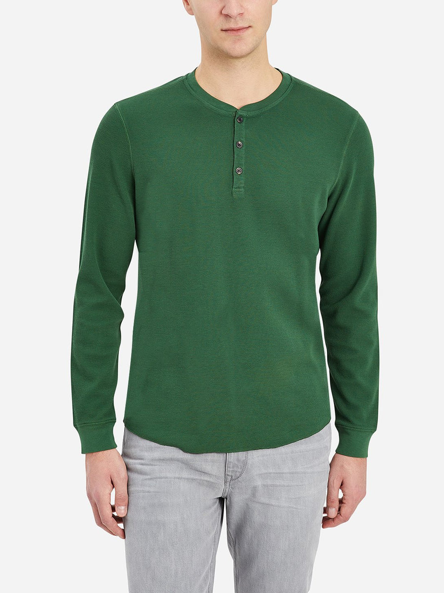 Court Waffle Henley - Green Pastures