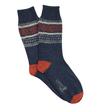 Fairisle Donegal Wool Sock - Ink