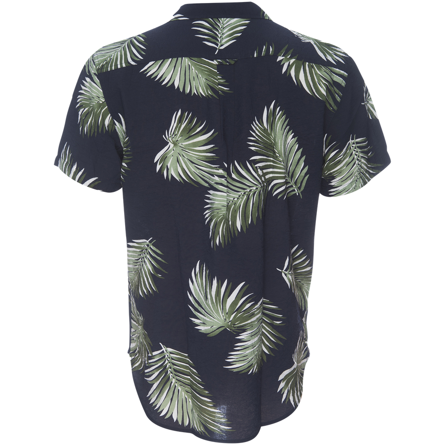 Truman Camp Shirt -Palm Leaf Print