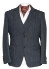 Kavanagh Classic Fit Irish Tweed Blazer - Blue