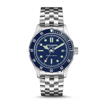Diver 3H - SS Navy Dial - Stainless Steel Bracelet