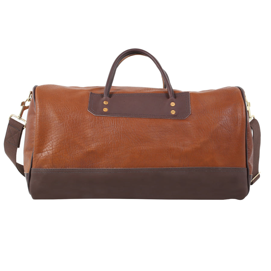 Bison Leather Sportsman's Duffel w/ Brown Trim