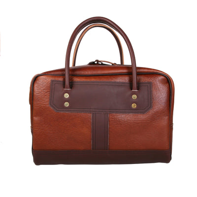 Bison Leather Doctor's Bag w/ Brown Trim