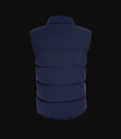 Quilted Vest - Navy Blue