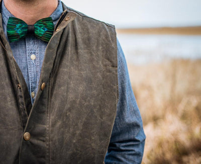 Chisolm Bow Tie - Peacock Feathers