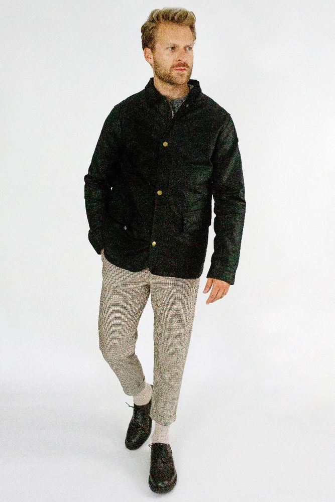 Boulder Waxed Jacket - Black