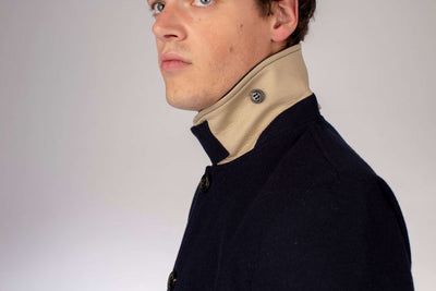 Bonded Wool Mac Car Coat - Navy