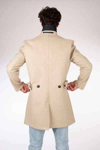 Bonded Wool Mac Car Coat - Oatmeal