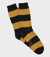 Rugby Stripe Donegal Wool Sock - Graphite/Ochre